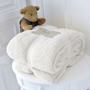 TEDDY BEAR FLEECE THROW OVER BED LARGE BEDSPREAD SOFT CUDDLY WARM SOFA BLANKET