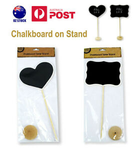 Wooden Chalkboard On Stand Large Blackboard Table Sign Vinyl Wedding Party Event
