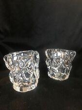 partylite candle holders P7657 Set Of 2 Glacier Lights votive Holder Pair