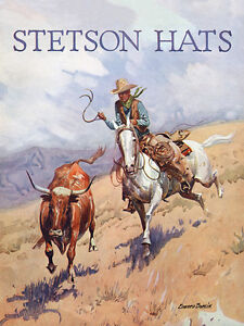 STETSON HATS ADVERTISING POSTER