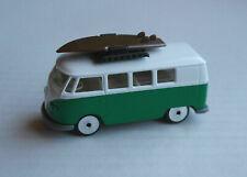 Majorette VW Volkswagen Bus T1 grün/weiß Gepäckträger Surfbrett Surfboard Kult