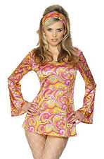 60s PSYCHEDELIC hippy retro FANCY DRESS costume 12-14