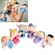 6pc/Set Kids Cloth Doll Play Game Learn Story Family Finger Puppets Hand Toys