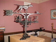 "(2) Metal Weathervanes 20"" roof mtd. Dog,Horse,swan,boat,roost er,coach"