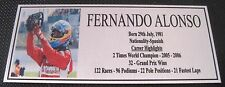 Fernando Alonso Picture Sublimated Gold Plaque 140x60
