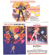 """Classic Vintage - Sci Fi/Horror Movie Posters - """"Barbarella"""" Chase Card Set of 3"""
