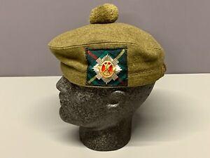 British Army-Issue Royal Scots Tam O Shanter & Badge. Size 57cm.