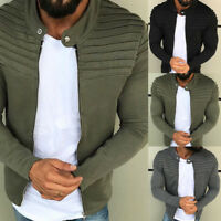 Men Winter Slim Sweatshirt Long Sleeve Casual Warm Coat Jacket Outwear Sweater