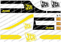 JCB JS130  MINI DIGGER COMPLETE DECAL SET WITH SAFTY WARNING