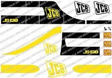 JCB JS130 Mini Escavatrice Completo Decalcomania Impostato Con Cartelli Di Avvertimento