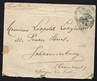 France Stampless Military Cover from Versailles to Johannesburg 1916