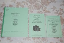 3-Book Library of Service Manuals Singer Featherweight 221 221K Sewing Machines