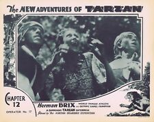 NEW ADVENTURES OF TARZAN 1935 Herman Brix Chapter 12 VINTAGE SERIAL Lobby Card 8