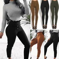 Womens High Waisted Skinny Jeans Jeggings Ladies Slime Stretchy Pants Denim