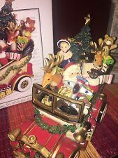 Fitz & Floyd Santa Mobile Musical Car Holiday Wind Up Music Box Christmas