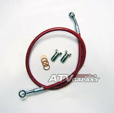 Streamline Red Rear Brake Line Steel Braided Honda TRX 400EX 400X TRX400 All