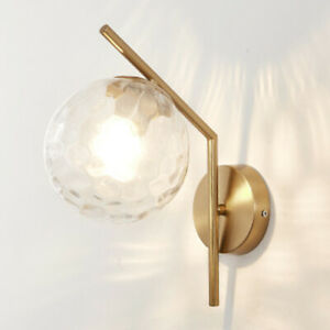 Modern Wall Light Indoor Glass Wall Lamp Bedroom Wall Sconce Home Gold Lighting