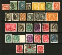 Early Canada #15-#88 1859-1899 Queen Victoria 28 items Few Mint Mostly Used