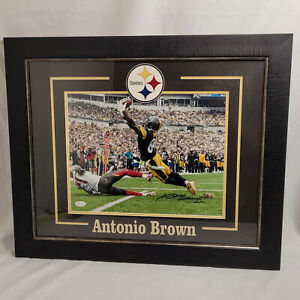 Antonio Brown Pittsburgh Steelers Autograph Signed NFL Framed Matted w/ COA JSA