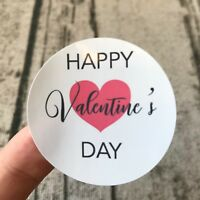 Valentine's Day Favor Stickers Cafe Shop Bar School Gift Labels 4cm 5cm 6cm 8cm
