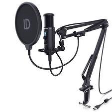 L&D USB Podcast Mikrofon +Monitorfunktion Set inkl. Mikrofonarm Spinne Popschutz