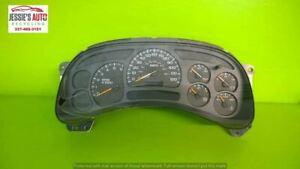 03 04 05 CHEVY TAHOE 5.3L AT SUV SPEEDOMETER CLUSTER 298611 MILES OEM 2037-1