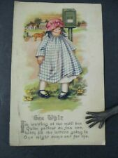 GEE WHIZ Vintage Rag Doll Postcard published by Gartner & Bender
