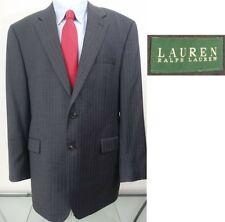 RALPH LAUREN designer GRAY PINSTRIPE mens suit sz 42L 42 LONG