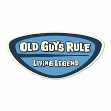 "OLD GUYS RULE "" LIVING LEGEND "" 2.5"" X 5"" DECAL STICKER"