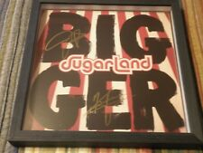 Sugarland 'Bigger' Autographed/Signed Framed poster/ Limited Availability /
