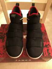 Nike LeBron Soldier XI 11 Bred Black/University Red Men's Size 13