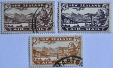 1931 NEW ZEALAND #C1-C3: Used Comp. Set of First Air Mail stamps