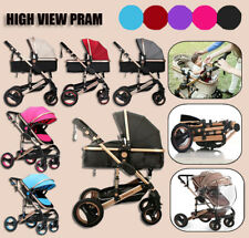 9 in 1 Foldable Newborn Carriage Travel Pram Baby Stroller Reversible Pushchair