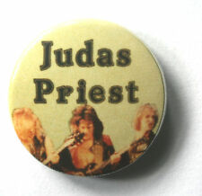 JUDAS PRIEST Old Vtg 70/80`s Button Pin Badge (not patch shirt lp cd tour)