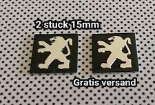 Peugeot 15mm Schlüssel  2er set keyfob emblem sticker logo aufkleber