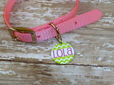 Personalized chevron pet tag, cat tag, dog tag, pet lover, pet id
