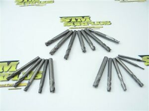 "LOT OF 18 SOLID CARBIDE END MILLS .02"" TO .07"" DIA GARR"