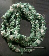 """34"""" Tree agate natural stone chip beads aka Ching Hai jade small to med bs056"""