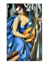 Tamara de Lempicka Dame in Blau Poster Kunstdruck Bild 80x60cm