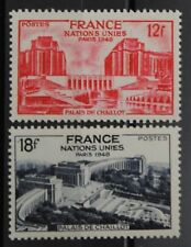 1948 FRANCE TIMBRE Y & T N° 818/19 Neufs * * SANS CHARNIERE