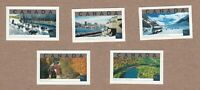 TOURIST ATTRACTIONS AGAWA CANYON ICEFIELD OLD PORT Canada 1952a-e MNH 2002 q05