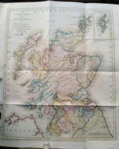 1791; Scotland map ; Grose/Hooper; Hand shaded counties, coloured boundaries.
