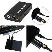 PS2 to HDMI Audio Video Cable AV Adapter Converter 3.5mm Audio Output for HDTV E