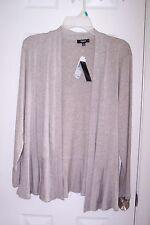 NEW Womens PREMISE STUDIO OX Light Taupe Long Sleeve Cardigan MSRP $58