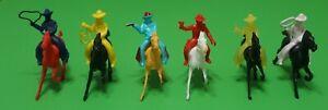 12 Soft Plastic Cowboys Indians And Horses Ajax Archer Lido Lot #2