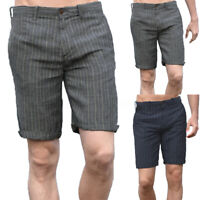 Mens Casual Linen Shorts Cargo Trousers 100% Cotton Sports Work Pants Beach Pant
