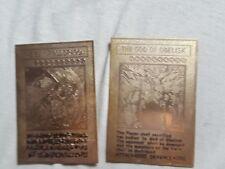 2 Yugioh Karten  Geflügelte Drache des Ra + Obelix der Peiniger Metall Gold