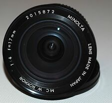 Minolta MC W.Rokkor 17mm 1:4 lens | Rokkor 17 f4