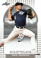 """JACOB HODOROVICH 2018 LEAF PERFECT GAME """"Blue"""" PARALLEL ROOKIE CARD! LTD 30!"""
