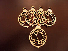 5x Wooden Christmas  baubles 3mm mdf  Christmas Tree decoration Blanks